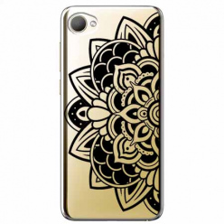 Etui na HTC Desire 12 - Kwiatowa mandala.