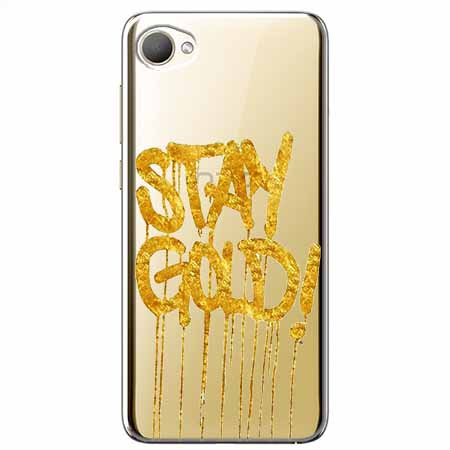 Etui na HTC Desire 12 - Stay Gold.