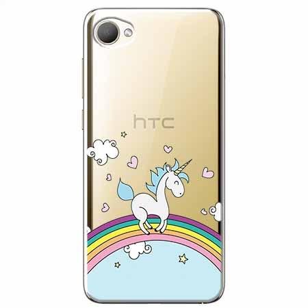 Etui na HTC Desire 12 - Jednorożec na tęczy.