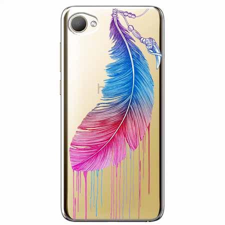 Etui na HTC Desire 12 - Watercolor piórko.