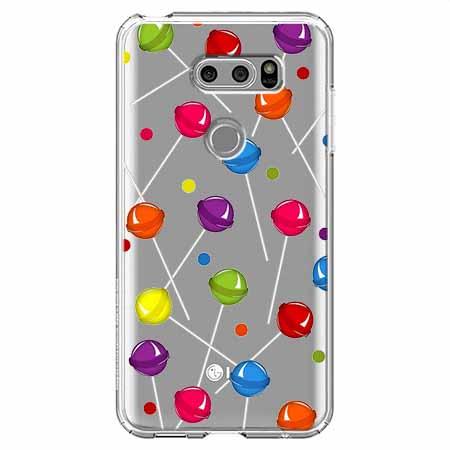 Etui na LG V30 - Kolorowe lizaki.