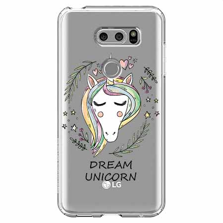 Etui na LG V30 - Dream unicorn - Jednorożec.