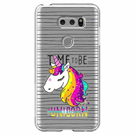 Etui na LG V30 - Time to be unicorn - Jednorożec.