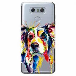 Etui na LG G6 - Watercolor pies.