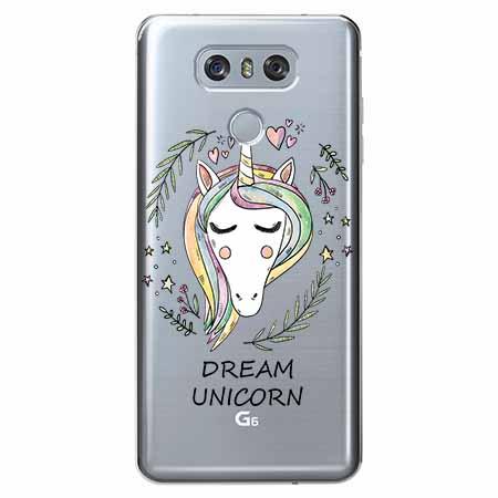 Etui na LG G6 - Dream unicorn - Jednorożec.