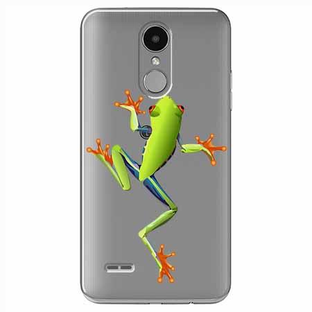 Etui na LG K8 2017 - Zielona żabka.