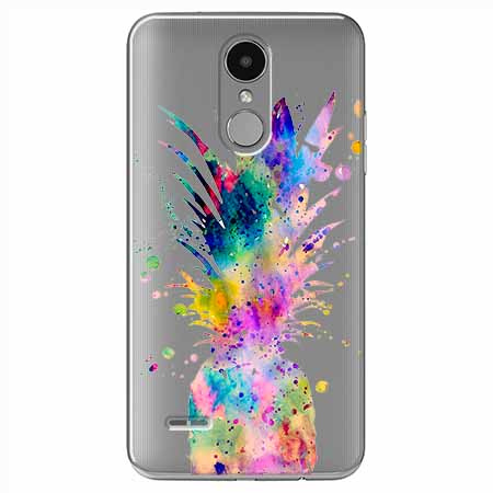 Etui na LG K8 2017 - Watercolor ananasowa eksplozja.