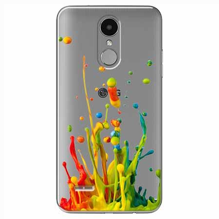 Etui na LG K8 2017 - Kolorowy splash.