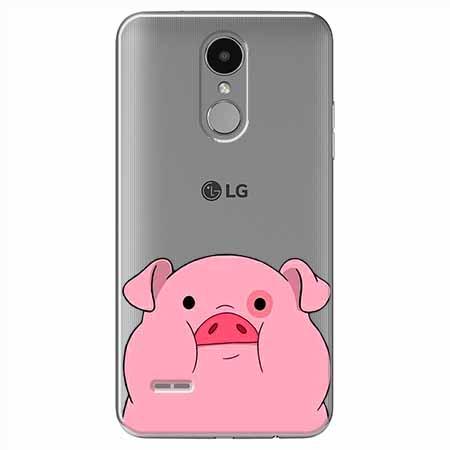 Etui na LG K8 2017 - Słodka różowa świnka.
