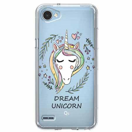 Etui na LG Q6 - Dream unicorn - Jednorożec.