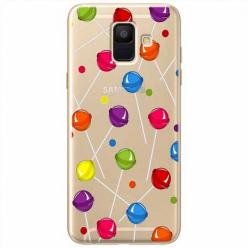Etui na Samsung Galaxy A6 2018 - Kolorowe lizaki.