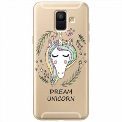 Etui na Samsung Galaxy A6 2018 - Dream unicorn - Jednorożec.