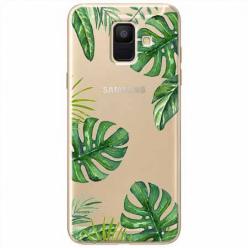 Etui na Samsung Galaxy A6 2018 - Egzotyczna roślina Monstera