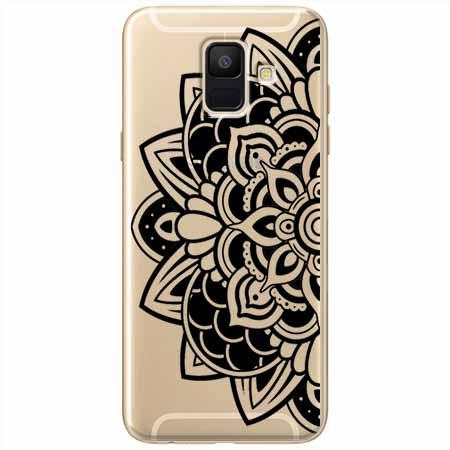 Etui na Samsung Galaxy A6 2018 - Kwiatowa mandala.