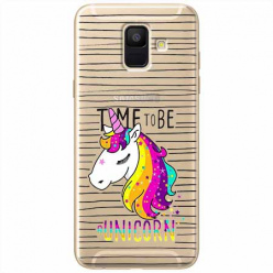 Etui na Samsung Galaxy A6 2018 - Time to be unicorn - Jednorożec.