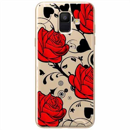Etui na Samsung Galaxy A6 2018 - Czerwone róże.
