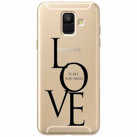 Etui na Samsung Galaxy A6 2018 - All you need is LOVE.