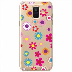 Etui na Samsung Galaxy A6 2018 - Kolorowe stokrotki.