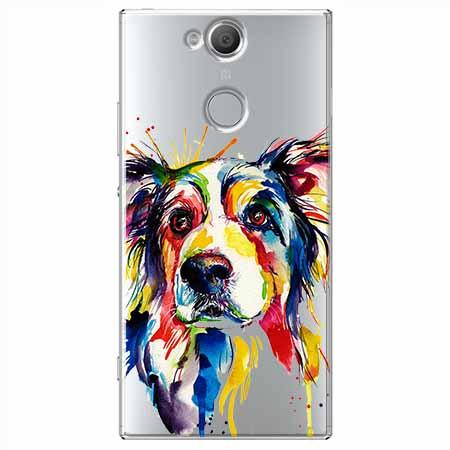 Etui na Sony Xperia XA2 - Watercolor pies.