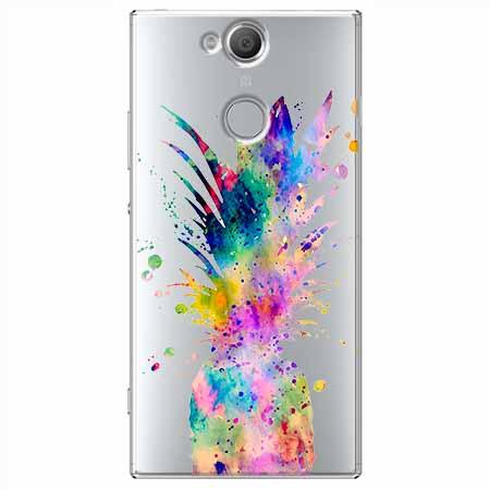Etui na Sony Xperia XA2 - Watercolor ananasowa eksplozja.