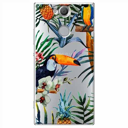 Etui na Sony Xperia XA2 - Egzotyczne tukany.