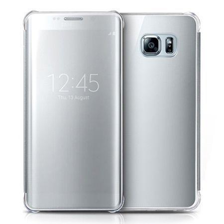 Etui na Samsung Galaxy S6 Edge Plus - Flip Clear View z klapką - Srebrny.