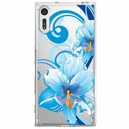 Etui na Sony Xperia XZ - Niebieski kwiat północy.