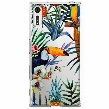 Etui na Sony Xperia XZ - Egzotyczne tukany.