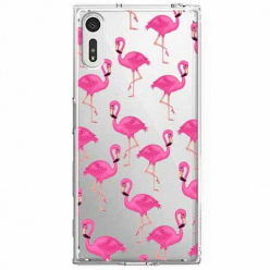 Etui na Sony Xperia XZ - Różowe flamingi.