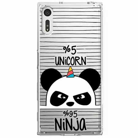 Etui na Sony Xperia XZ - Ninja Unicorn - Jednorożec.
