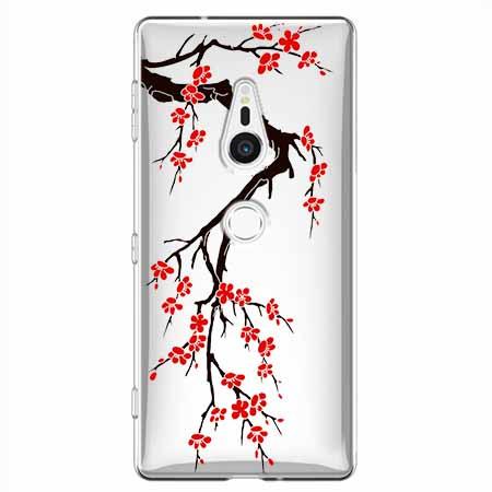 Etui na Sony Xperia XZ2 - Krzew kwitnącej wiśni.