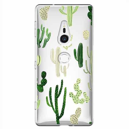 Etui na Sony Xperia XZ2 - Kaktusowy ogród.
