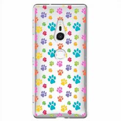 Etui na Sony Xperia XZ2 - Kolorowe psie łapki.