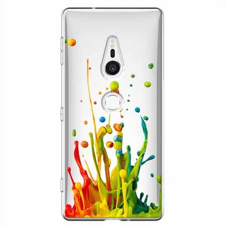 Etui na Sony Xperia XZ2 - Kolorowy splash.