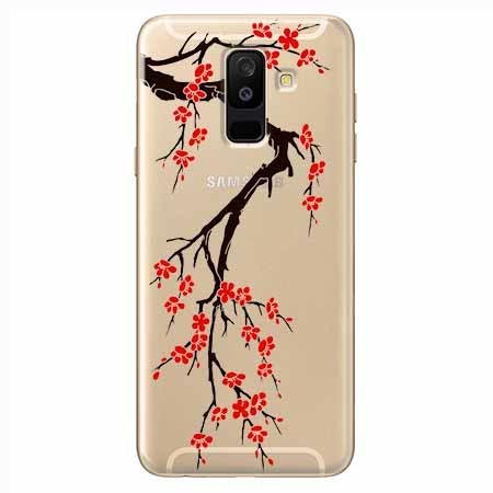 Etui na Samsung Galaxy A6 Plus 2018 - Krzew kwitnącej wiśni.