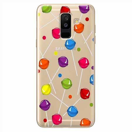 Etui na Samsung Galaxy A6 Plus 2018 - Kolorowe lizaki.