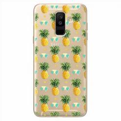 Etui na Samsung Galaxy A6 Plus 2018 - Ananasowe szaleństwo.