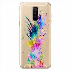 Etui na Samsung Galaxy A6 Plus 2018 - Watercolor ananasowa eksplozja.
