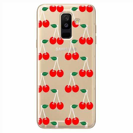 Etui na Samsung Galaxy A6 Plus 2018 - Wiśniowa plejada.
