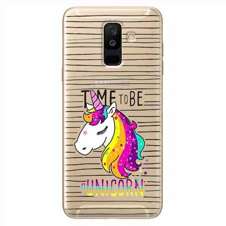 Etui na Samsung Galaxy A6 Plus 2018 - Time to be unicorn - Jednorożec.