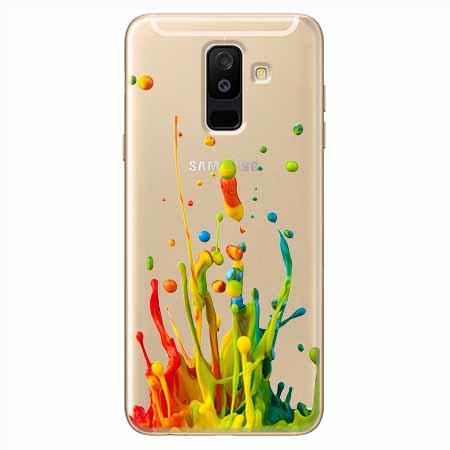 Etui na Samsung Galaxy A6 Plus 2018 - Kolorowy splash.