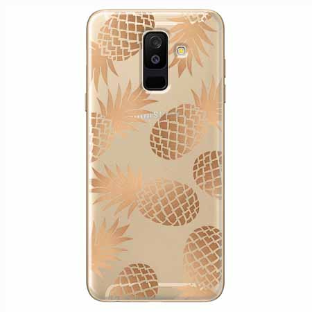 Etui na Samsung Galaxy A6 Plus 2018 - Złote ananasy.