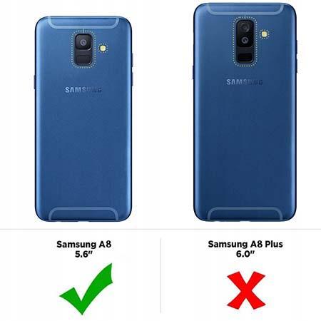 Etui na Samsung Galaxy A8 2018 - Czerwone wesołe biedronki.