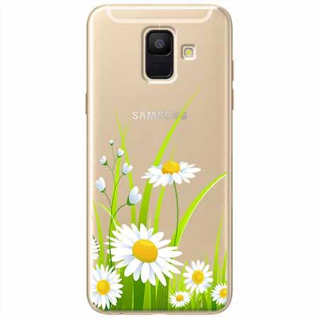 Etui na Samsung Galaxy A8 2018 - Polne stokrotki.