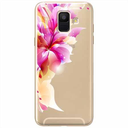 Etui na Samsung Galaxy A8 2018 - Bajeczny kwiat.