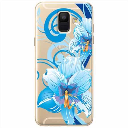 Etui na Samsung Galaxy A8 2018 - Niebieski kwiat północy.