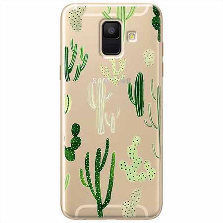 Etui na Samsung Galaxy A8 2018 - Kaktusowy ogród.