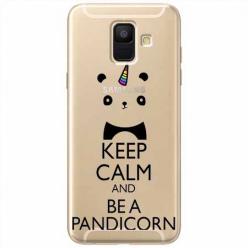 Etui na Samsung Galaxy A8 2018 - Keep Calm… Pandicorn.