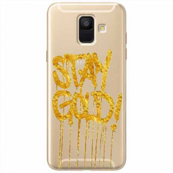 Etui na Samsung Galaxy A8 2018 - Stay Gold.