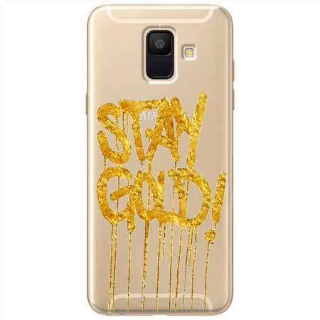 Etui na Samsung Galaxy A8 2018 - Stay Gold.